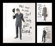 Ads for Suit Designer Duncan Quinn