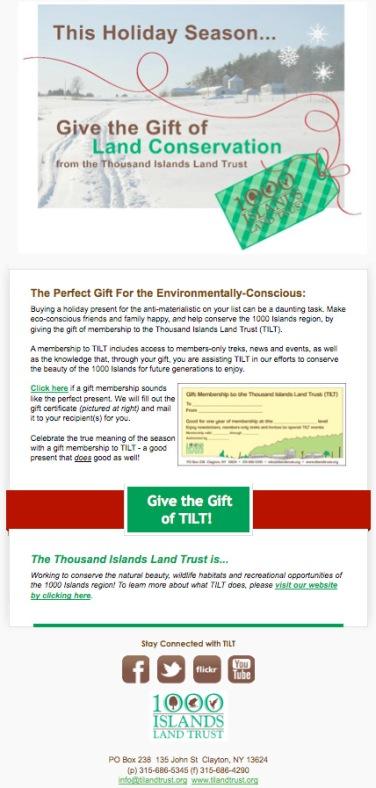 Gift of TILT Email Blast