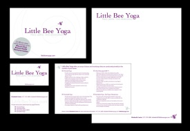 Little Bee Yoga logo & collateral (NYC)