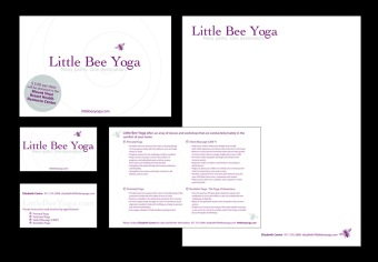 Business Collateral for Little Bee Yoga