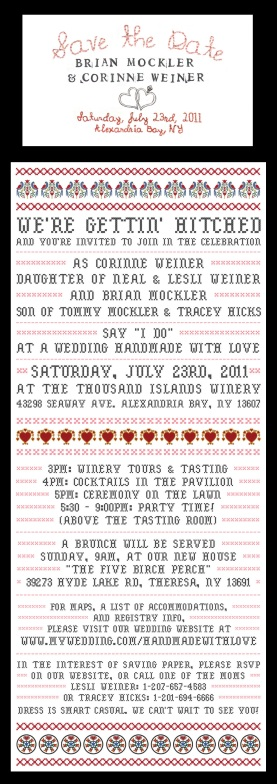 Invite for Handmade-With-Love Wedding