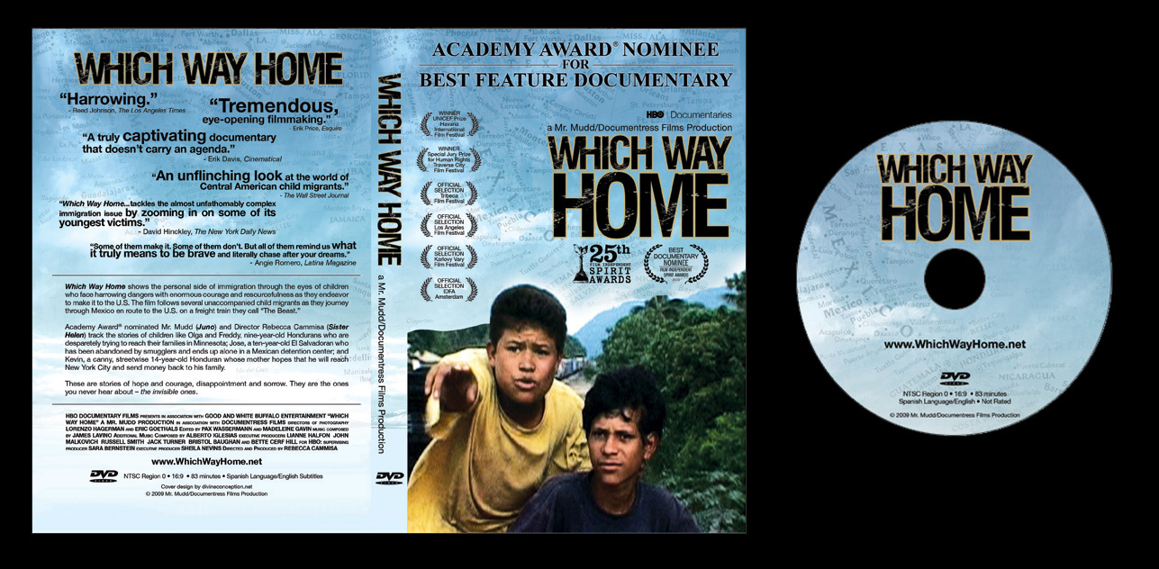 Which way home oscar nominated box art and on disc art for Which way to home