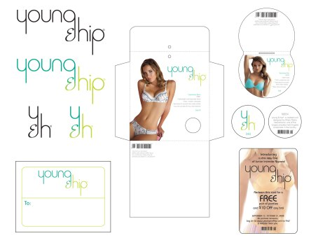 Young & Hip Logos, Collateral and Packaging