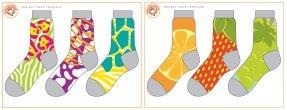 Little MissMatched Sock Designs