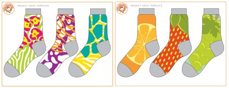 Little MissMatched Sock Designs